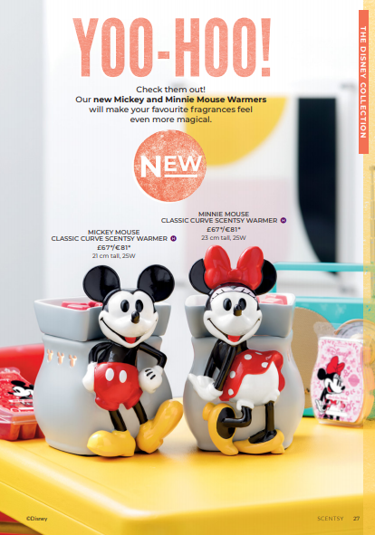MICKEY MOUSE AND MINNIE MOUSE DISNEY SCENTSY WARMER