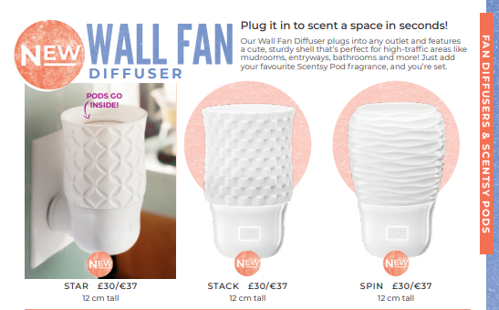 wall diffuser fan plug in scentsy wick free scented candles