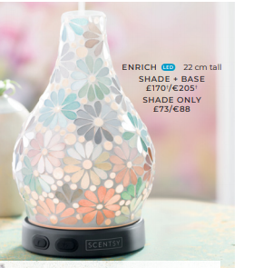 ENRICH SCENTSY DIFFUSER WICK FREE SCENTED CANDLES