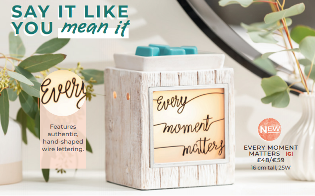EVERY MOMENT MATTERS SCENTSY WARMER WICK FREE SCENTED CANDLES