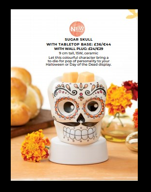 sugar skull scentsy wick free scented candles