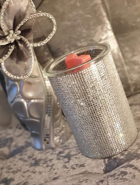 illuminate scentsy warmer silver wick free scented candles