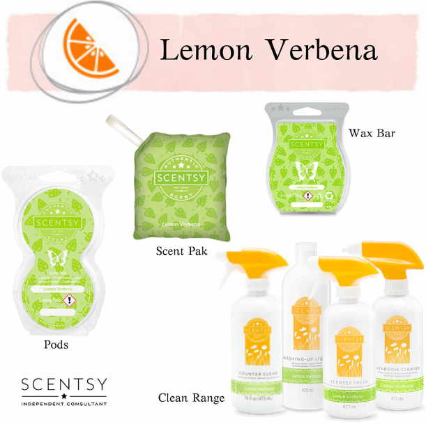 lemon verbena scentsy wick free scented candles