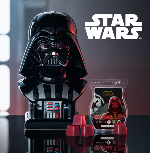 STAR WARS DARTH VADAR SCENSTY WARMER WICK FREE SCENTED CANDLES