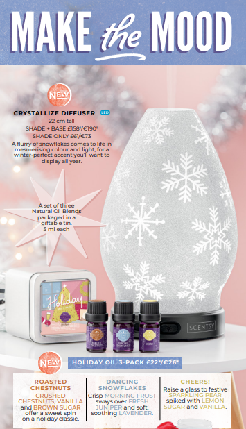 SCENTSY CRYSTALLIZE DIFFUSER WICK FREE SCENTED CANDLES