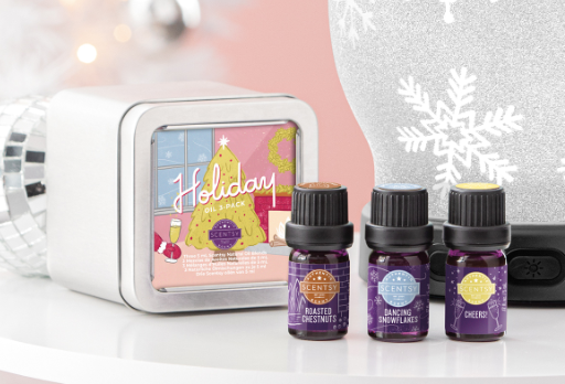 scentsy christmas oils pack wick free scented candles