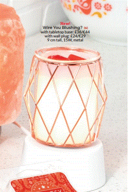 WIRE YOU BLUSHING MINI SCENTSY WARMER WICK FREE SCENTED CANDLES