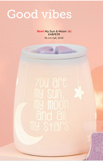 My Sun & Moon Scentsy Warmer wick free scented candles