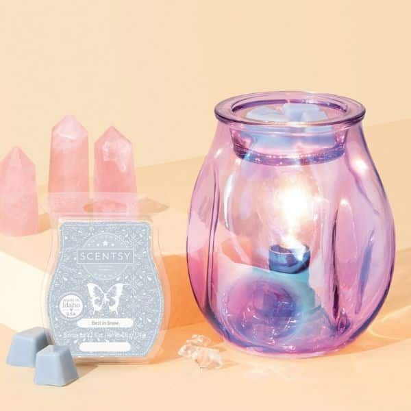 Bubbled Ultraviolet Scentsy Warmer wick free scented candles