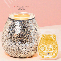 crush diamond scentsy warmer wick free scented candles