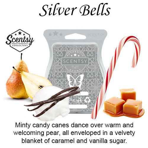 Silver Bells Scentsy Bar wick free scented candles