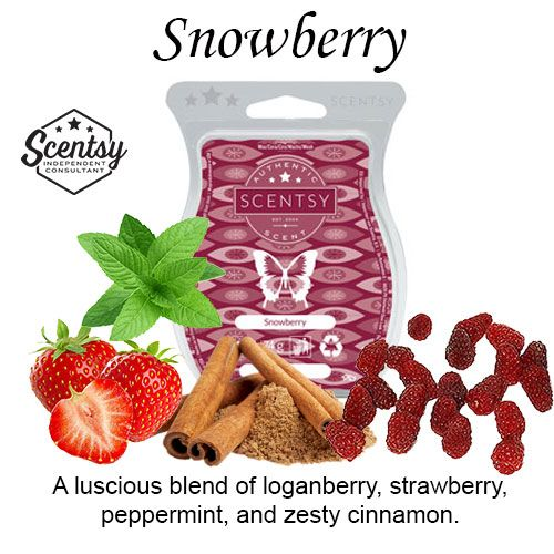 Snowberry Scentsy Bar wick free scented candles
