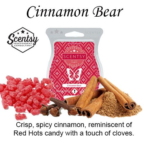 Cinnamon Bear Scentsy Bar wick free scented candles