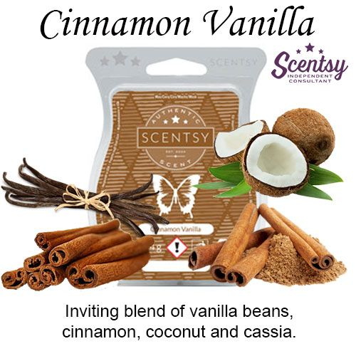 Cinnamon Vanilla Scentsy Bar wick free scented candles