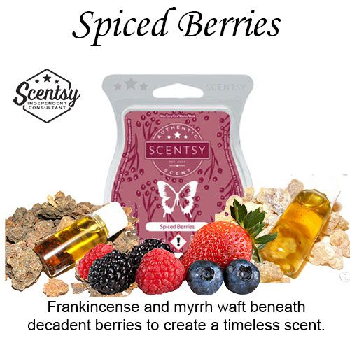 Spiced Berries Scentsy Bar wick free scented candles