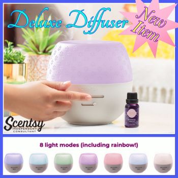 deluxe diffuser scentsy wick free scented candles