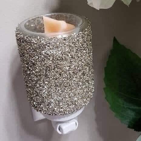 Silver Glitter Mini Warmer Scentsy