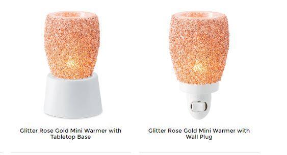 rose gold glitter mini warmer scentsy