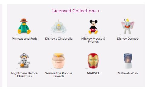licensed collections scentsy