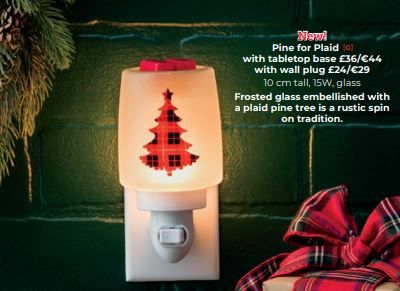 pine for plaid christmas scentsy warmer wick free scented candles