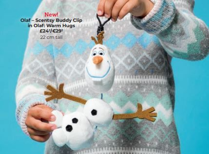 olaf scentsy christmas buddy clip wick free scented candles