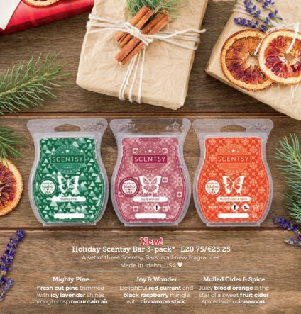christmas 3 pack wax wick free scented candles