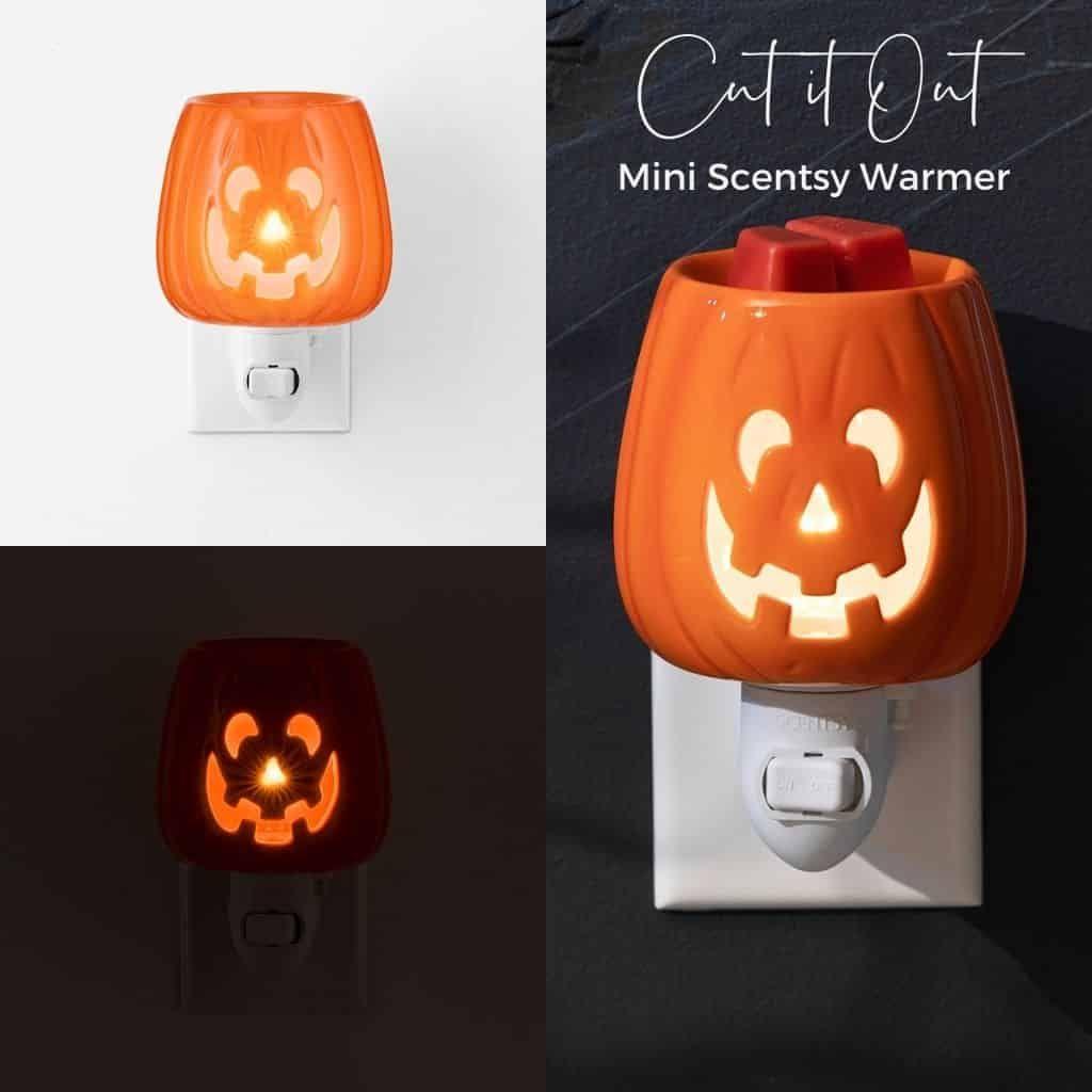 Cut It Out Scentsy Mini Warmer Pumpkin