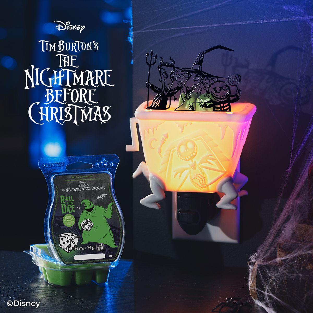 Lock Shock and Barrel  Scentsy Mini Warmer Nightmare before Christmas