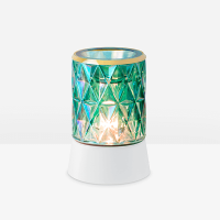 Crowned in Gold Mini Warmer with Table top Base