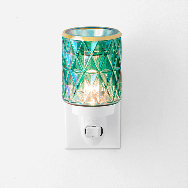 Crowned in Gold Scentsy Mini Warmer with Wall Plug