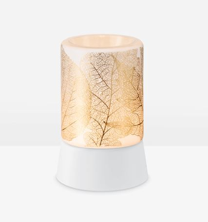 Gilded Leaves Mini Warmer with Tabletop Base