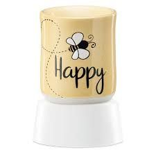 Bee Happy Scentsy Mini Warmer with Tabletop Base