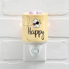 Bee Happy Scentsy Mini Warmer with Wall Plug