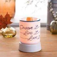 Dream it, Live it, Love it Mini Scentsy Warmer with Tabletop Base