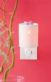 Etched Core Mini Scentsy Warmer with Wall Plug