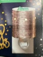 Etched Core Rose Gold Scentsy Mini Warmer with Wall Plug