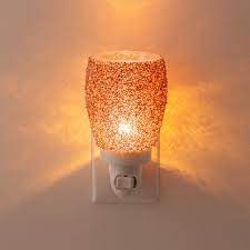 Glitter Rose Gold Mini Scentsy Warmer with Wall Plug