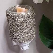 Glitter Silver Mini Scentsy Warmer with Wall Plug