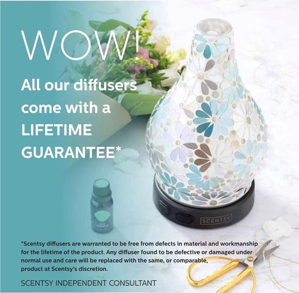 scentsy diffuser warranty wick free scented candles