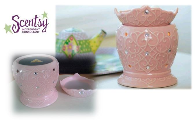 Tiara Scentsy warmer & heating element wickfree scentsy warmer candle wax scents  premium buy shop wickless