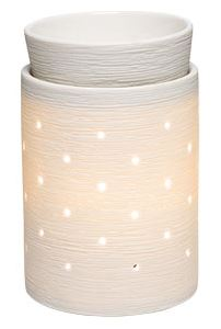 etched core scentsy WICK FREE SCENTED CANDLE warmer DELUXE