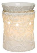 scentsy WICK FREE SCENTED CANDLE warmer WHITE FLOWER VINE