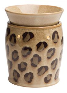 leopard deluxe scentsy WICK FREE SCENTED CANDLE warmer