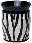 zebra deluxe scentsy WICK FREE SCENTED CANDLE warmer