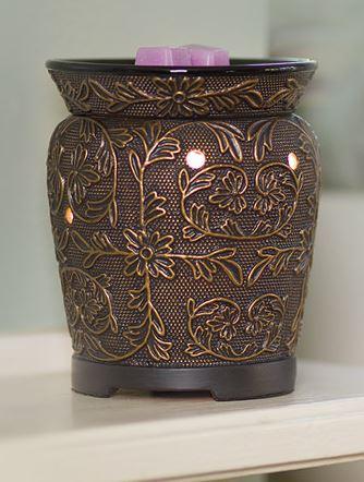 bronze vine candle scents wickfree scentsy warmer premium