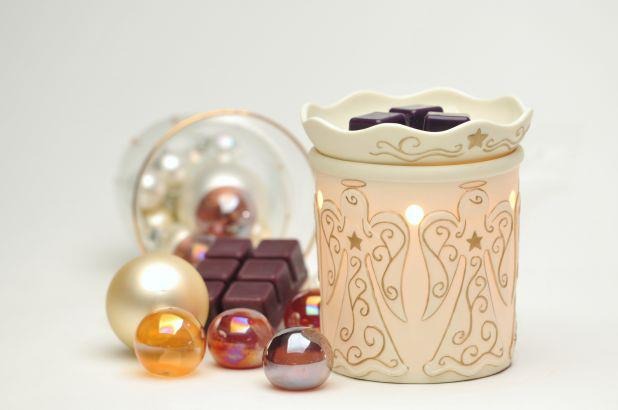 heavenly angel wickfree scentsy warmer candle wax scents  premium buy shop wickless