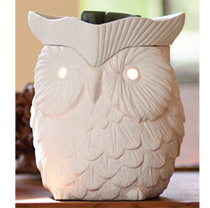 owl WHITE WHOOT wickfree scentsy warmer candle wax scents  premium buy shop wickless