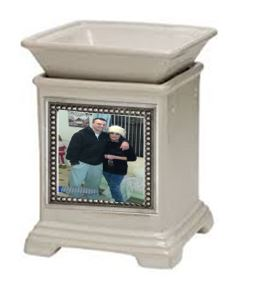 cream classic gallery scentsy warmer and snapshot frame