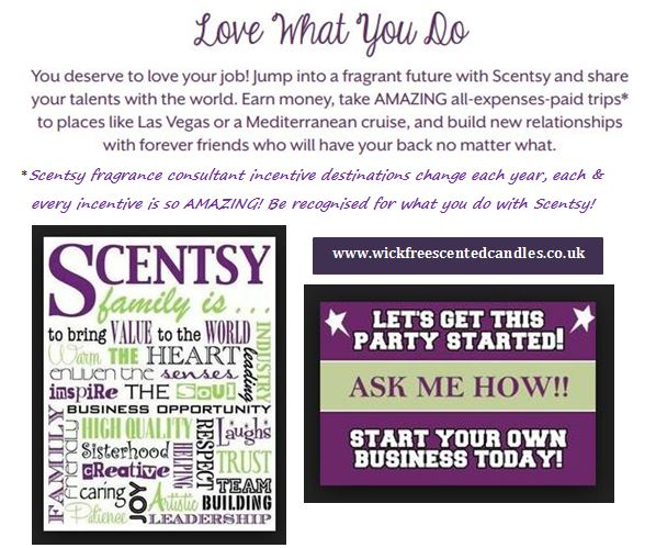 work from home with scentsy fragrance UK direct selling