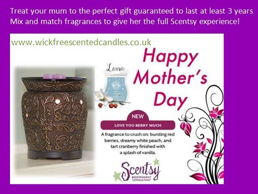 mothers day gifts scentsy wickfree candles